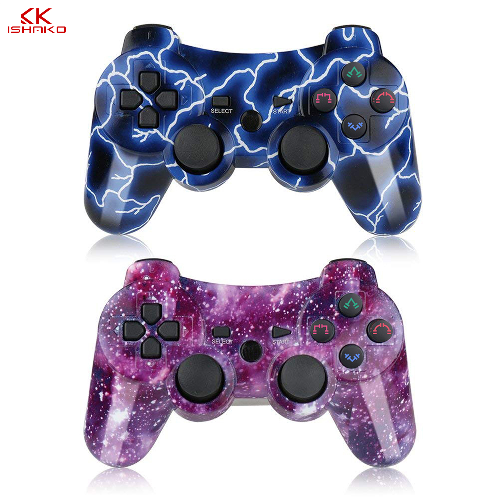 K ISHAKO For Sony gamepad ps3 joystick Dualshock Bluetooth Gamepad Joystick Wireless console for Ps3/ps2/pc game controller-in Gamepads from Consumer Electronics