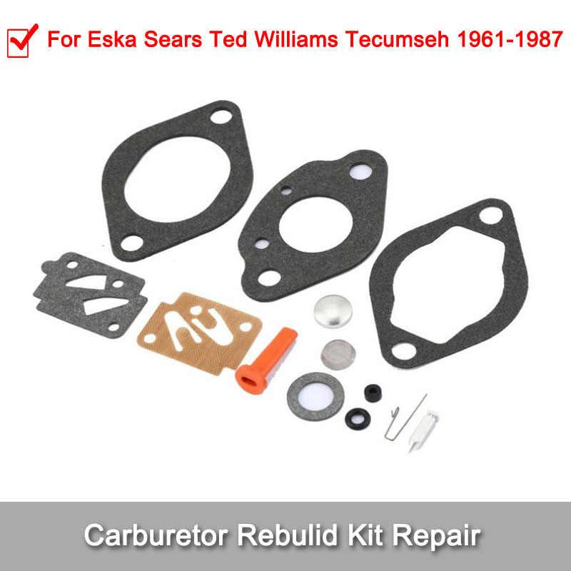 For Eska Sears Ted Williams Tecumseh Outboard Motor Carburetor Kit 1961-1987
