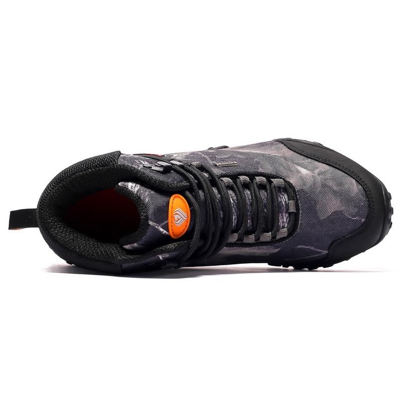 Plus Size 40 46 Outdoor Laarzen Mannen Werken Laarzen Nieuwe Winter Herfst Mode Camouflage Waterdichte Slijtvast Mannen laarzen Botas Hombre - 5