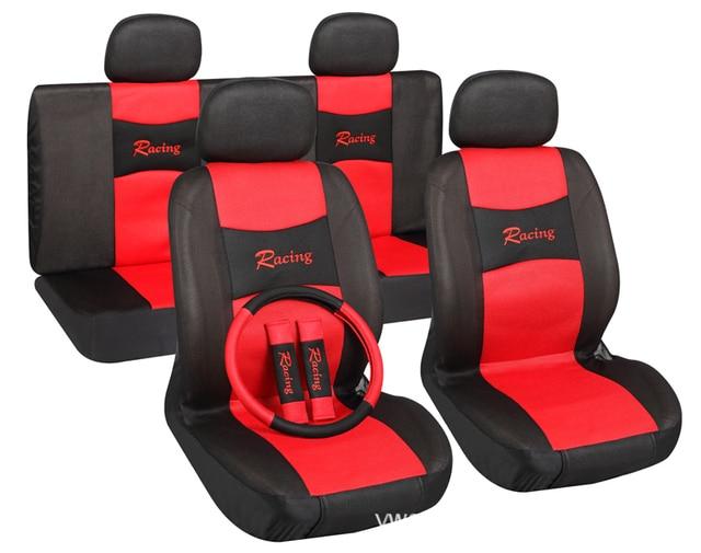 Cheapest Universal 11pcs Sport Car Seat Cover Classic Design Auto