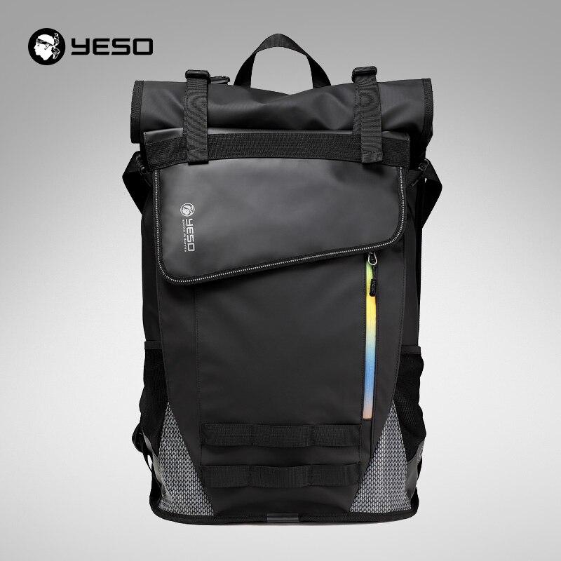 YESO Waterproof Laptop Backpack For Men Durable Oxford Business Backpack Men Travel Black Backpack Women School