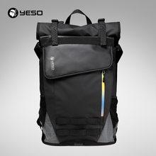 58f0ae2f62028 YESO Su Geçirmez Laptop Sırt Çantası Erkekler Için Dayanıklı Oxford iş sırt  çantası Erkekler Seyahat Siyah