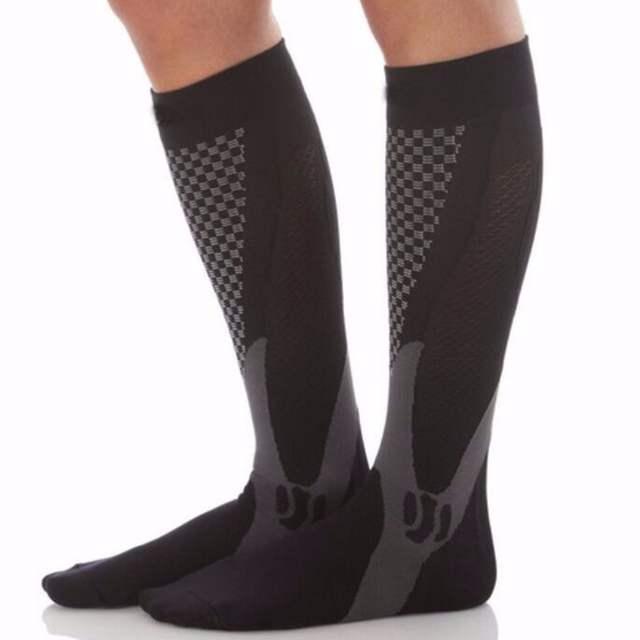 a645485dc placeholder High Sale Unisex Leg Support Stretch Compression Socks Below  Knee Socks Men Women Magic Performance Workout