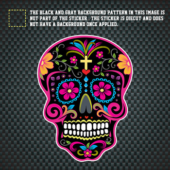 Sugar Skull Waterproof Stickers Decal Stickers
