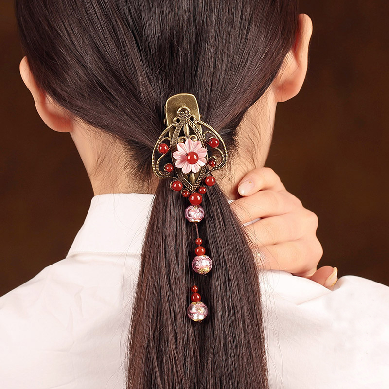 все цены на Carved hair accessories hairpins Retro hair claw clip Headband for Lady Hair Jewelry Accessories Claw handmade