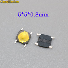 ChengHaoRan 5-20pcs metal dome 5*5*0.8mm thin film touch switch 4 feet foot patch micro button 5*5*0.8 mm