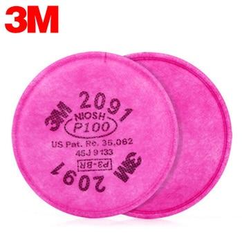 3 Mt 2091 Atemschutzmaske Filter Unterstützung Baumwolle Filter P100 99.7% Pro Anti Industriestaub Pollen Dunst Giftgas Filter Set-in Masken aus Sicherheit und Schutz bei