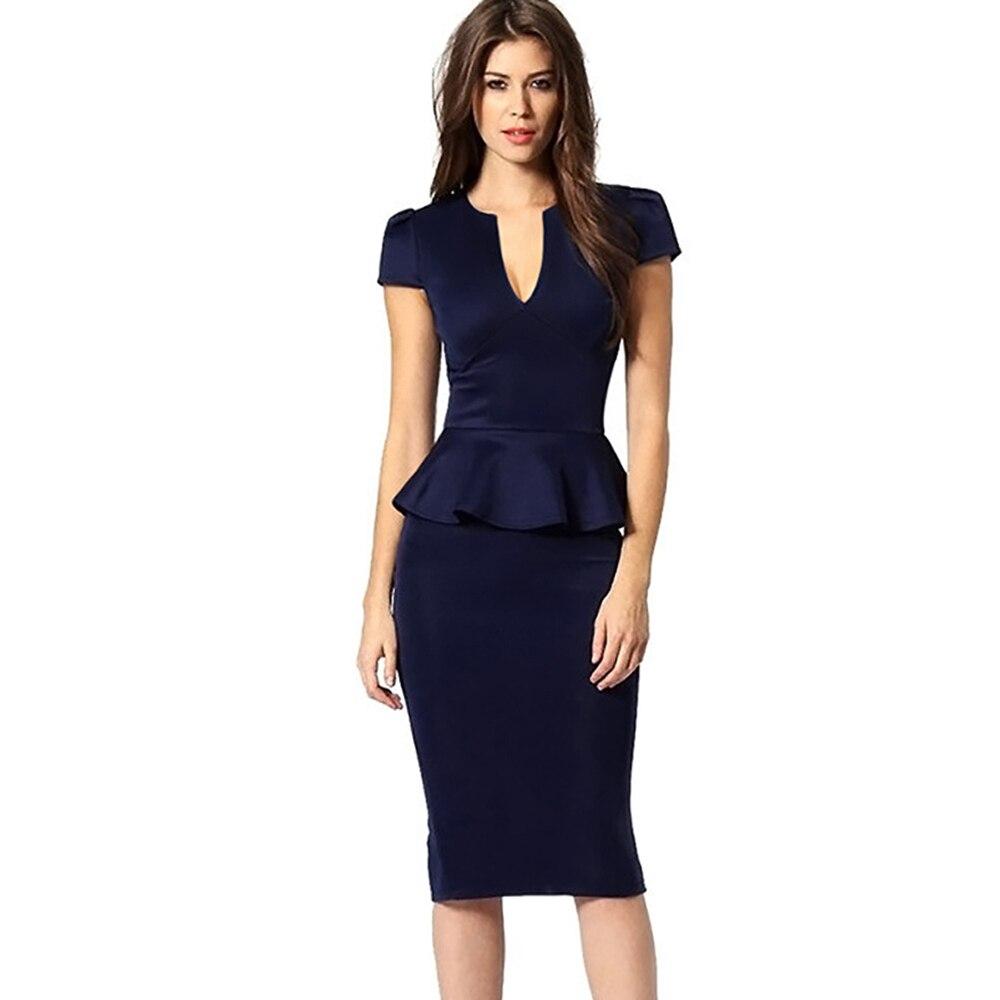 Popular Navy Blue Sheath Dress-Buy Cheap Navy Blue Sheath Dress ...
