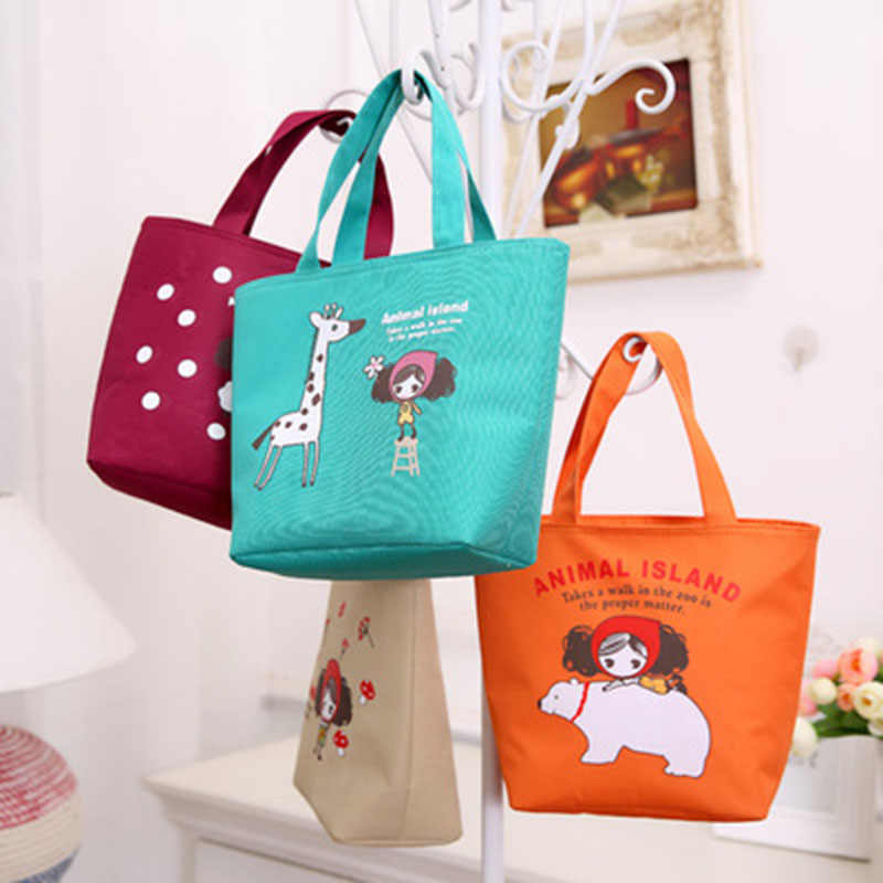 92be059eeb79 ... Waterproof laptop bags thicker insulation rice lunch with rice canvas  bag lunch oxford cloth bags small