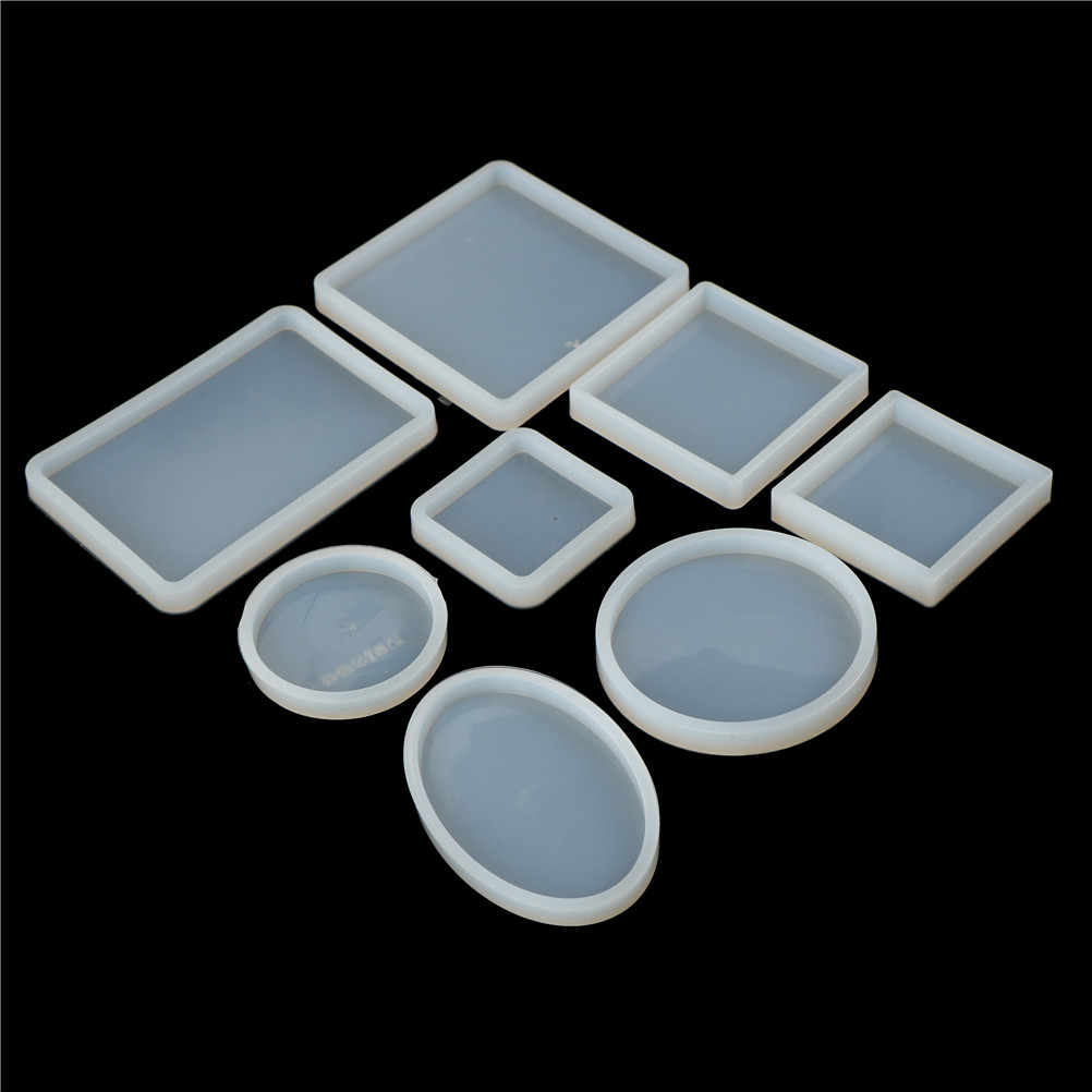 1PC DIY Cake Mold Craft Square Round Resin Silicone Book Mould Decorative Crystal Transparent Epoxy Jewelry Making Mold