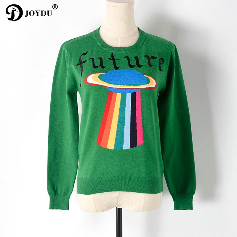 Trui Sweater.Best Quality Runway Sweater Women 2018 Designer Ufo Letters