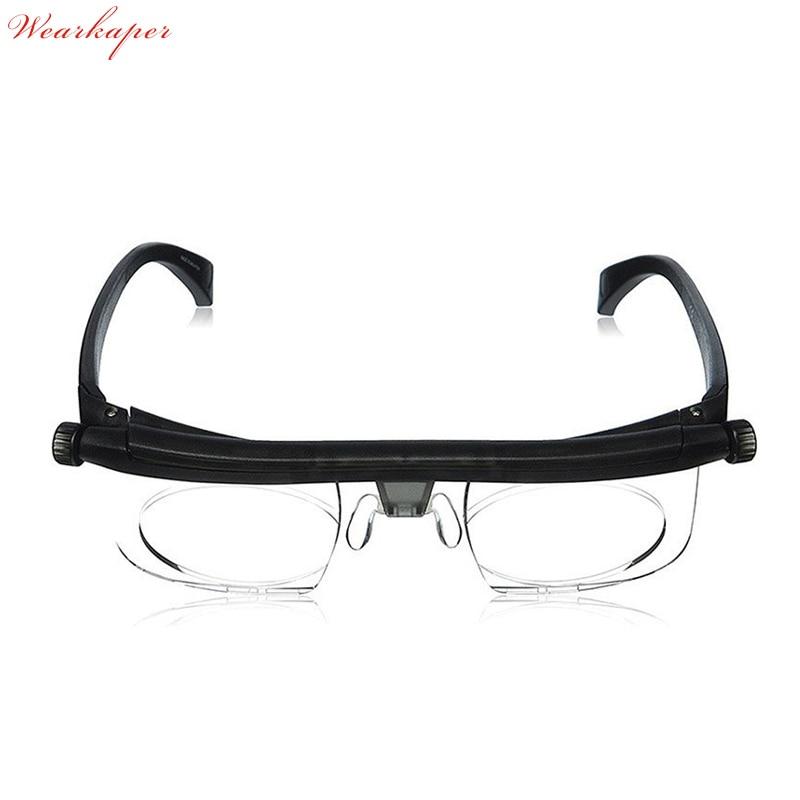 cb6650947bd Adjustable Len Reading Glasses Myopia Eyeglasses -6D to +3D Variable Lens  Correction Binocular Magnifying