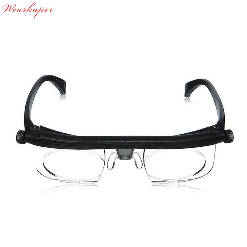 8bcdd5c3d6 Adjustable Len Reading Glasses Myopia Eyeglasses -6D to +3D Variable Lens  Correction Binocular Magnifying