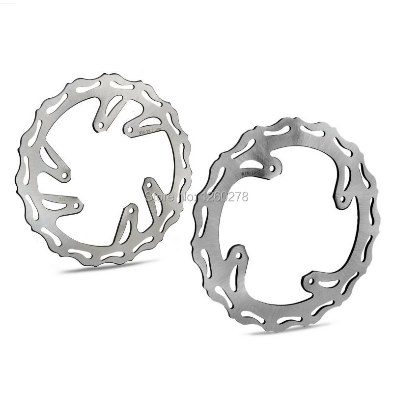 Motorcycle Front & Rear Brake Disc Rotor Kit For Honda CR125 CR250 2002 2003 2004 2005 2006 2007 2008 motorcycle part front rear brake disc rotor for yamaha yzf r6 2003 2004 2005 yzfr6 03 04 05 black color