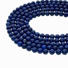 Wholesale New Natural Stone Dye Lapis Lazuli Beads For Jewelry Making DIY handmade Jewelry Bracelet Necklace 4/6/8/10/12 MM