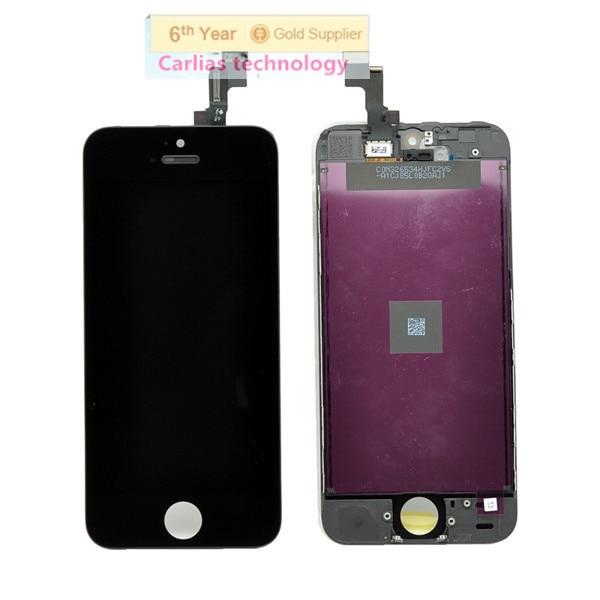 imágenes para 10 unids/lote calidad aaaaa 100% probado precio de coste al por mayor lcd para iphone 5s