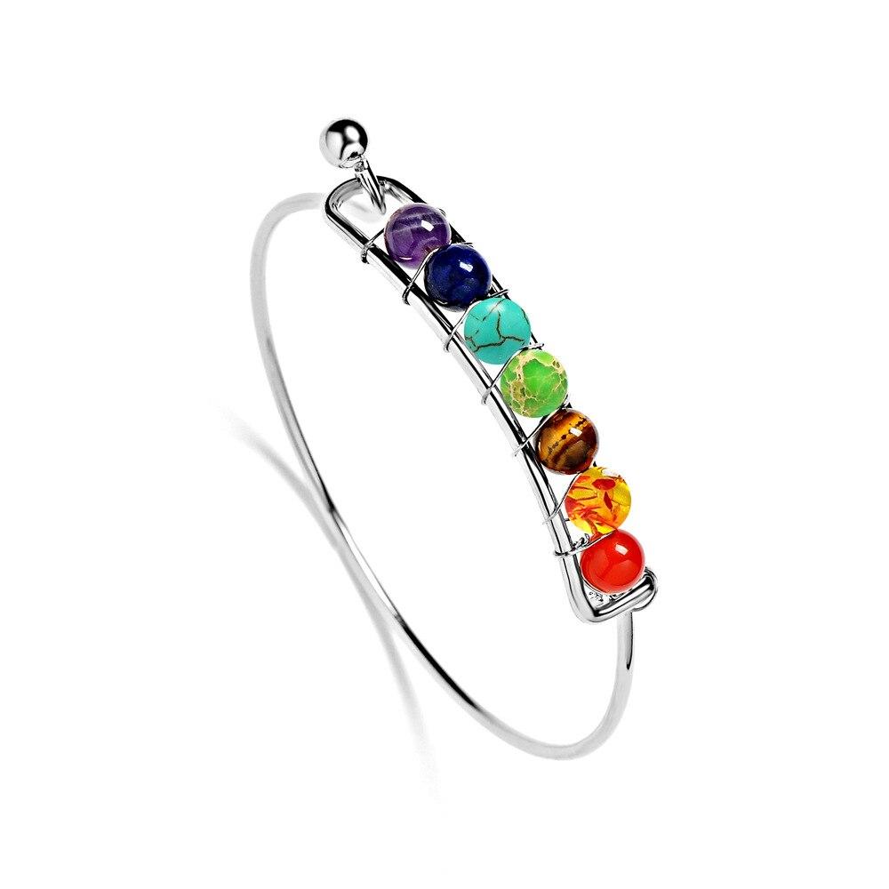 7 Chakra Bangle Bracelet 4