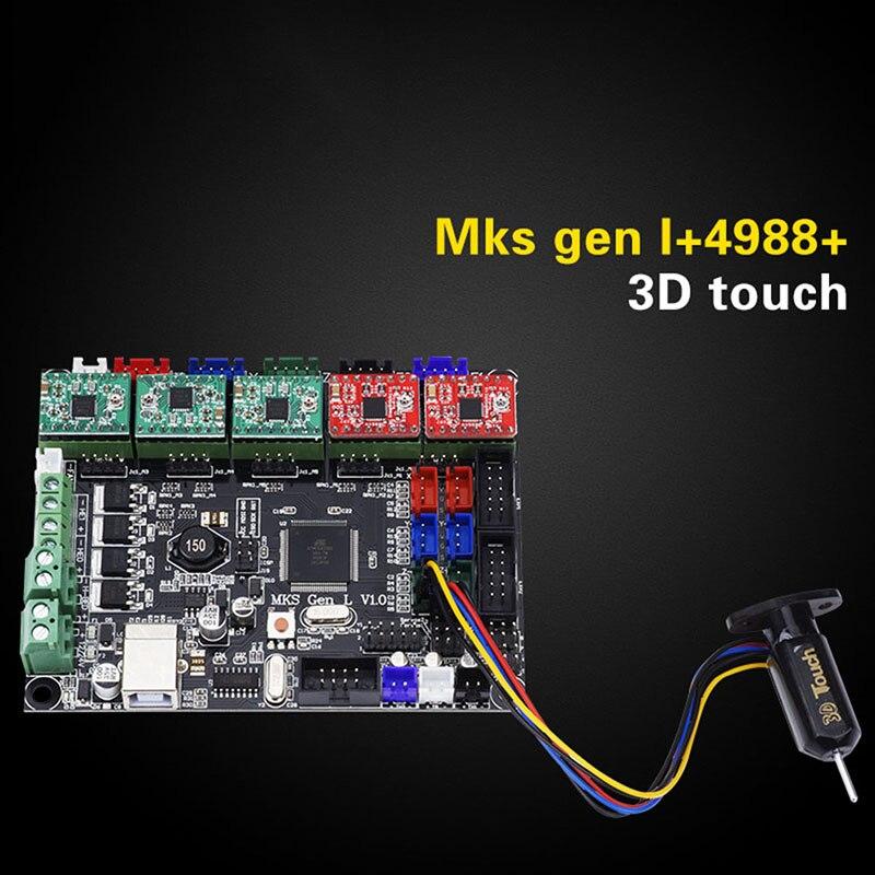 Nouvelle Carte Mère Chaude Makerbase MKS GEN L avec 5 pièces DRV A4988 Conducteur + 3D Touches Module Ensemble pour 3D Imprimante