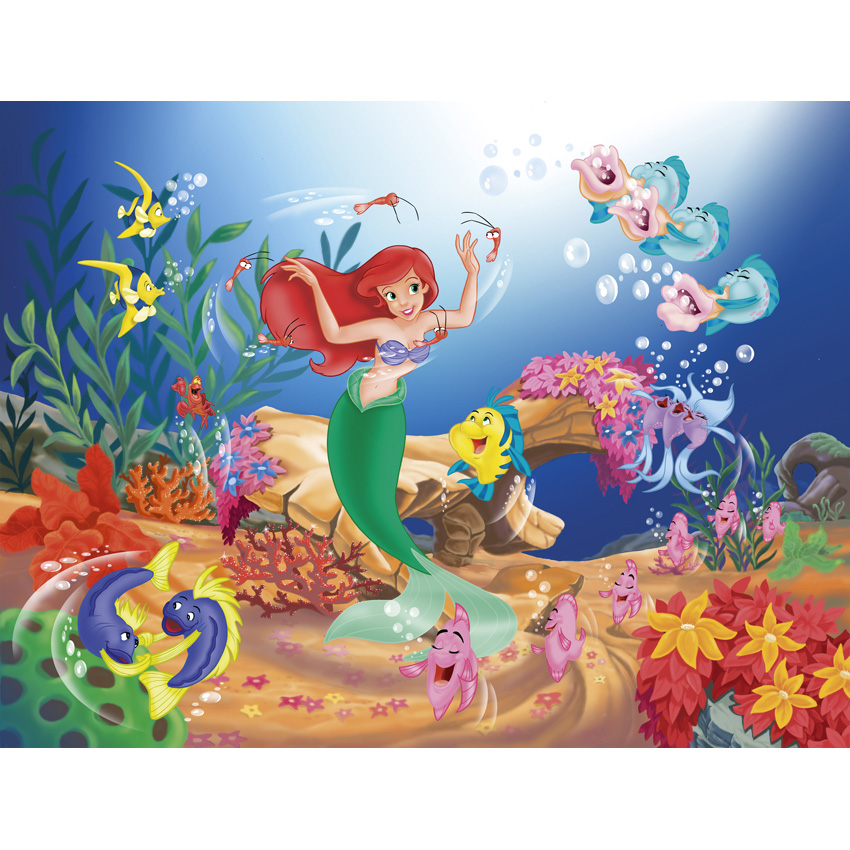 7x5FT Little Mermaid Ariel Princess Under Sea Coral Reed Custom Photo Studio Backdrop Background Vinyl 220cm x 150cm