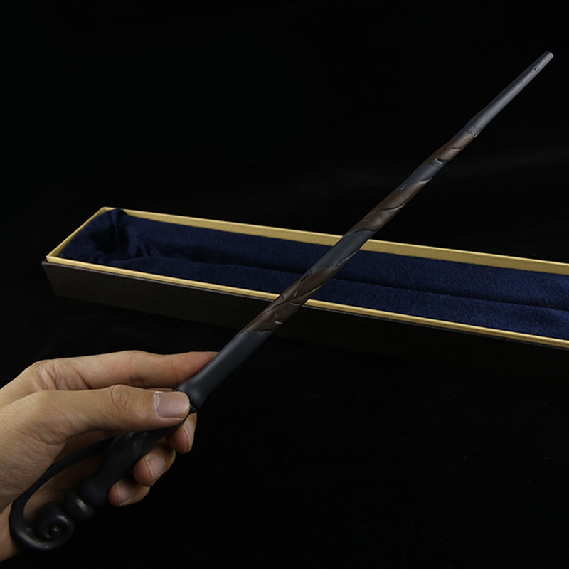 High Quality Movie Toys Harry Potter Flenr Delacour Metal Core By Hand Painted Magic Wand In Box Perfect Movie Theme Cos Props