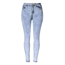 2016 High Quality Elastic Cotton Women Jeans Fashion Denim Pencil Pants Empire Leggings Trousers High Waist