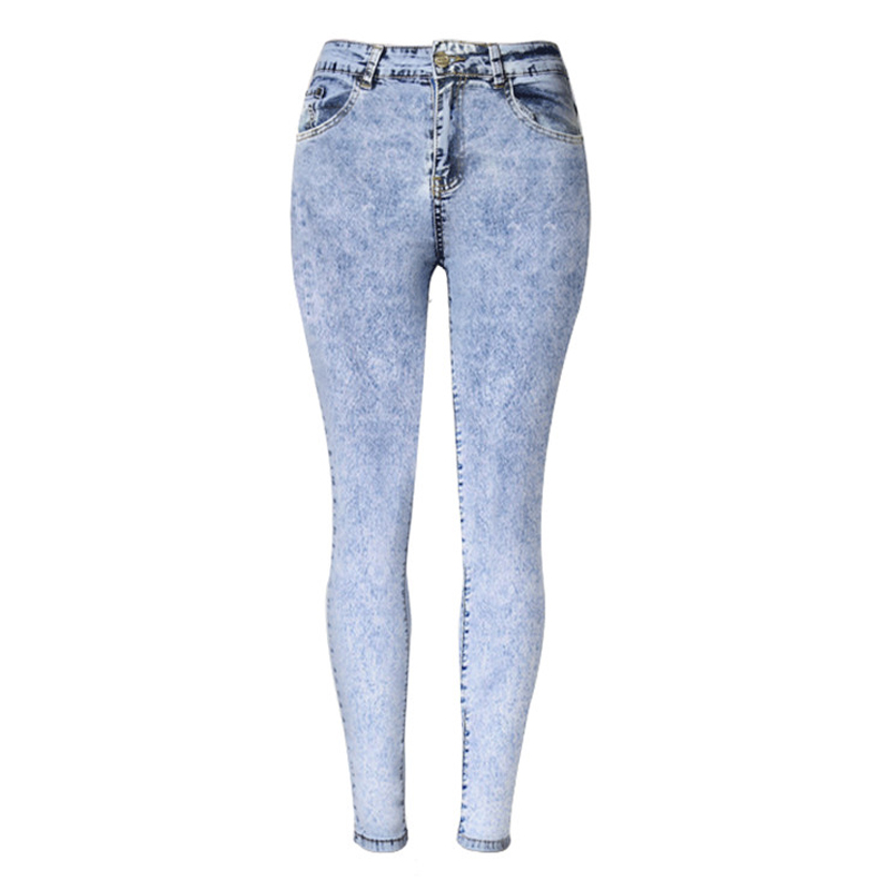 2016 High Quality Elastic Cotton font b Women b font Jeans Fashion Denim Pencil Pants Empire