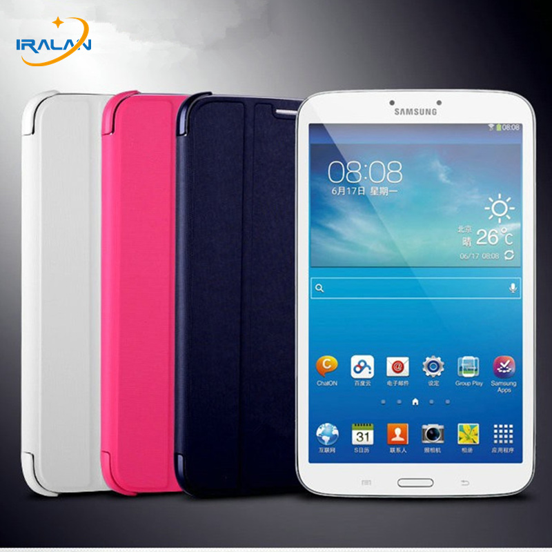 2017 Hot wholesale Slim Thin Leather Smart Cover BOOK Case for Samsung Galaxy Tab 3 T310 T311 T315 Tablet+stylus free shipping