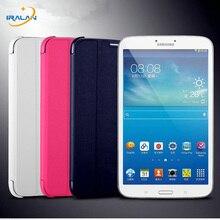 2017 Caliente al por mayor Fina Delgada Cubierta Elegante de Cuero LIBRO de Casos para Samsung Galaxy Tab 3 T310 T311 T315 Tablet + stylus libre gratis