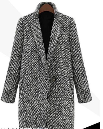 Discount winter case grain of woolen cloth coat with thick long woollen coat of cultivate one's morality dress