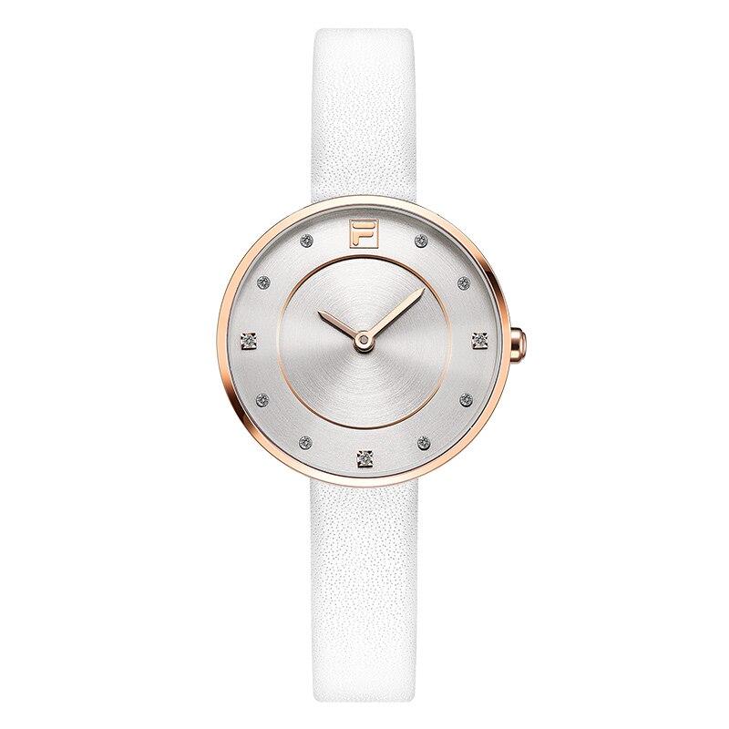 b18ab7073d1 Fila de las mujeres relojes reloj de cuarzo para las mujeres dama cuero  Correa impermeable venta moda y Casual de lujo 721 ff en Relojes de mujer  de Relojes ...