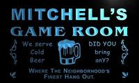 X0223 Tm Mitchell S Social Club Game Room Custom Personalized Name Neon Sign Wholesale Dropshipping