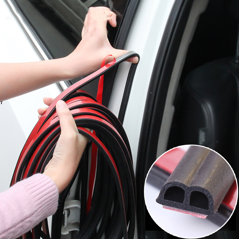 Car Door Seal Edge Trim Noise Insulation Seal Strip For Ford Focus 2 1 Fiesta Mondeo 4 3 Transit Fusion Ranger Mustang KA S-max
