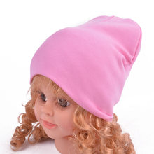Baby Hat Solid Color Kids Knitted Cotton Cap Autumn Winter Boys Girls Soft Warm Beanie Hats baby muts(China)
