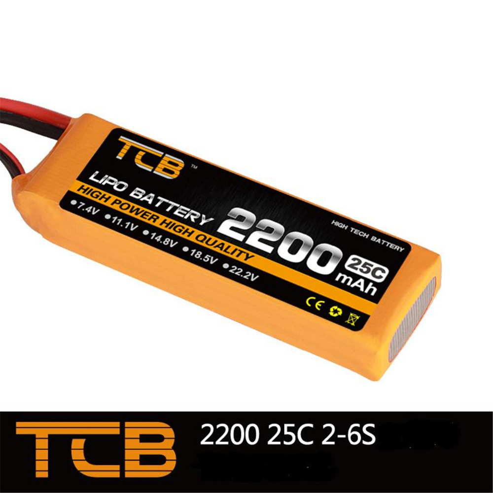 TCB 11.1V 25C 2200mAh 3S RC Airplane Lipo battery FOR Airplane Drone AKKU Toys Parts High Discharge Batteria tcb rc drone lipo battery 11 1v 2200mah 35c 3s for rc airplane free shipping