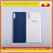 10 pçs/lote para samsung galaxy a70 a705 SM A705F SM A7050 habitação porta da bateria traseira caso capa de vidro chassis escudo a70 2019