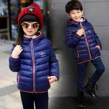 2016 New Fashion Children Down Coats Boys Thick hooded down Outwear Girls Warm Casual Parkas Kids Hot-selling Retail Outwears