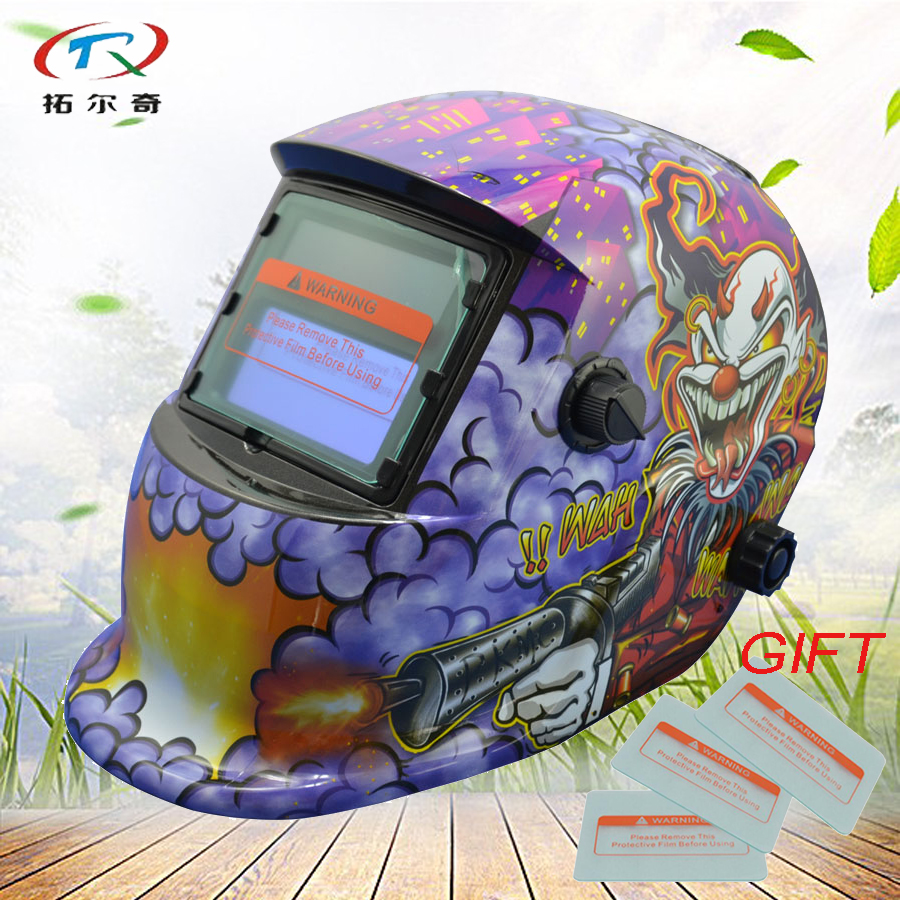 Chameleon Welder Mask solar and replaced battery PP Monster welding helmet auto darkening Outside Control tig HD03-2233FF