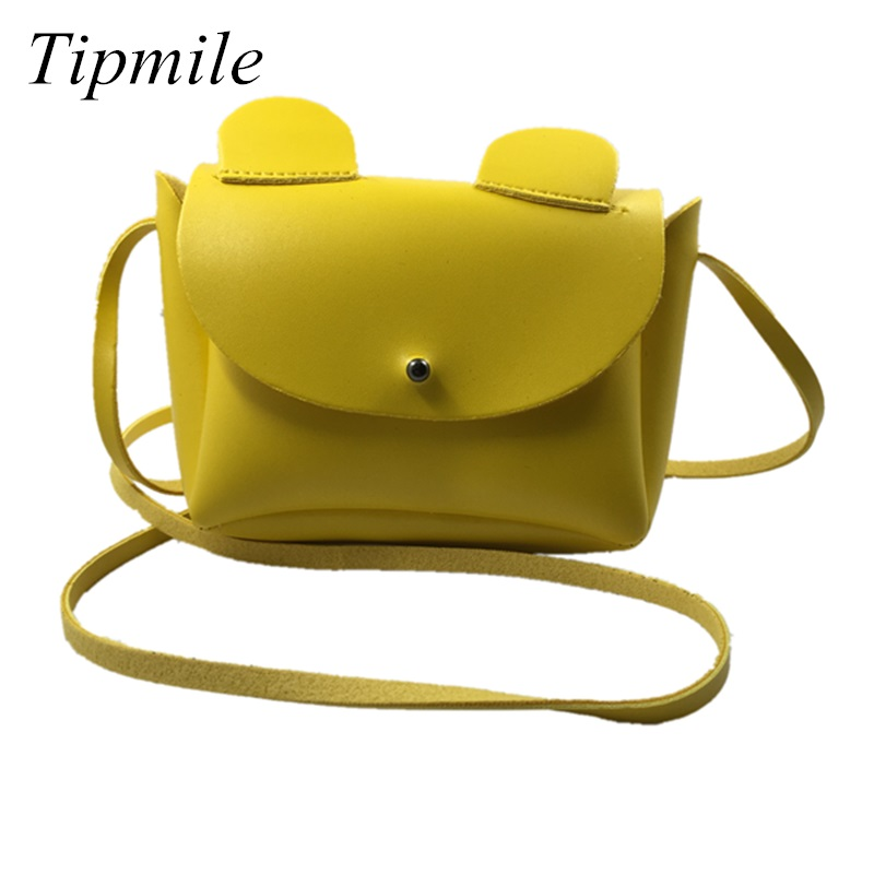 2017 Ins New Fashion Ear Brand Children Messenger Bag Candy Color Mini Baby Girls Decoration Bags Mice Ear Summer Babies Gift