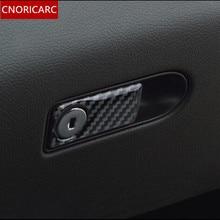 CNORICARC In fibra di Carbonio Copilota Glove Box Pannello Decorare Copertura Trim per Mercedes Benz classe C W205 GLC X253 Car Styling