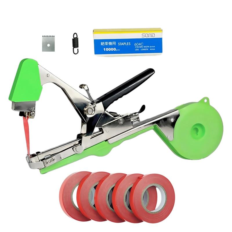 Onnfang Hand Tying Machine Plant Garden Plant Tapetool Tapener Tape Set For Grape Tomato Cucumber Vegetable Staples Set