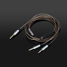 כבל אודיו עם מיקרופון עבור Hifiman HE400S HE 400i HE560 הוא 350 HE1000 / HE1000 V2 מהדורה X V2 SUSVARA אריה הנדל XF 200