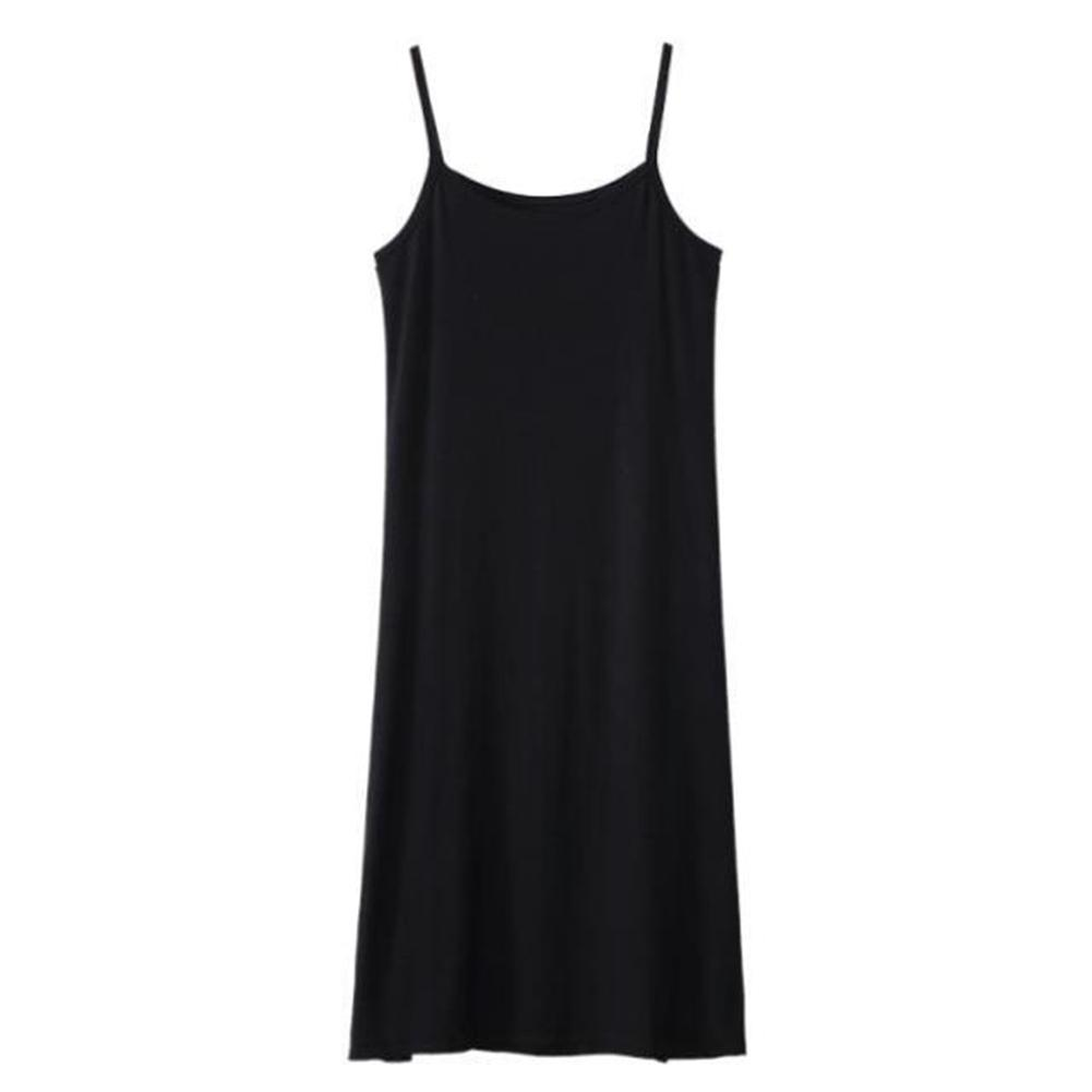 Women's Summer Sundress Plus Size Casual Summer Women Solid Color Loose Sleeveless Camisole Underdress