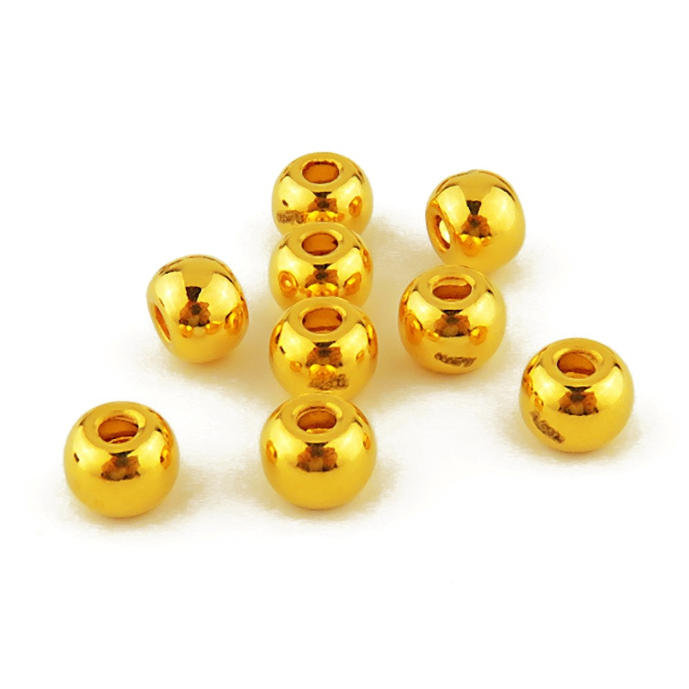 New Arrival Pure 24k Yellow Gold Women 3D Loose Bead Pendant 0.27-0.33g