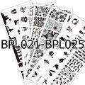 5 Unids NACIDO BPL021-025 PRETTY Nail Art Sello Plantilla Placas Radiográficas