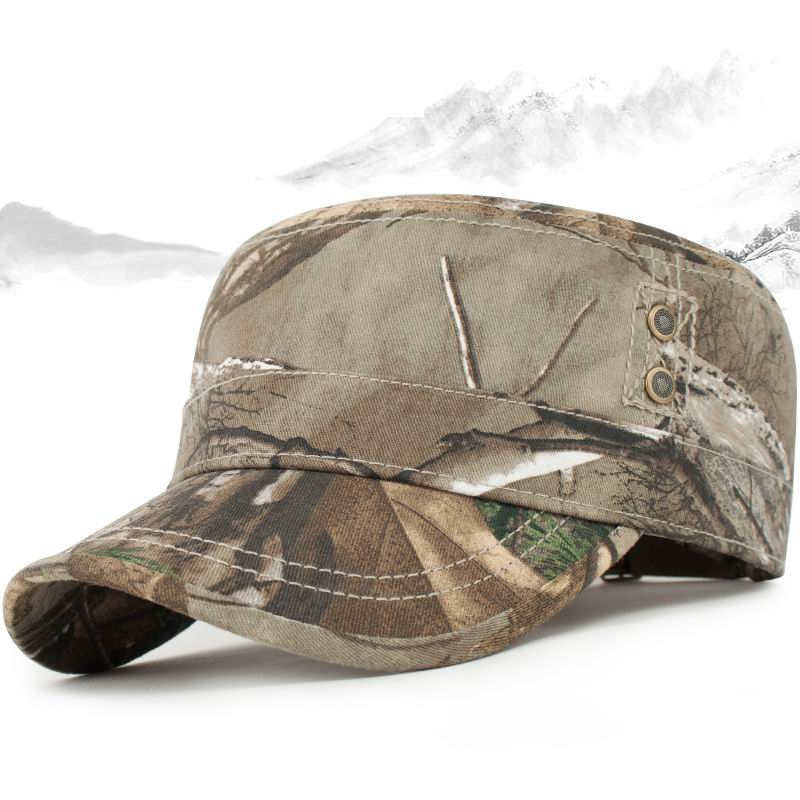 GBCNYIER Autumn And Winter Male Army Hat Short Hard Bone Brim Visor Men Outdoor Sunscreen Adjust Cap