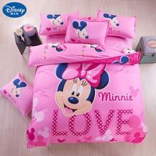 Pillowcase Bedding-Set Cover Mickey Mouse Home-Textile Cartoon Children Minnie Disney