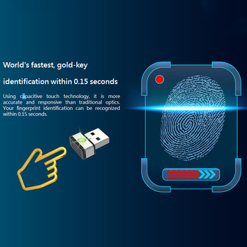 PQI My Lockey Fingerprint USB Dongle World's Fastest Goldkey Identification Within 0.15 Seconds USB Gadgets For Windows Hello 1