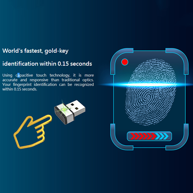 My Lockey Fingerprint USB Dongle World's Fastest Goldkey Identification Within 0.15 Seconds USB Gadgets For Windows Hello-in USB Gadgets from Computer & Office    2