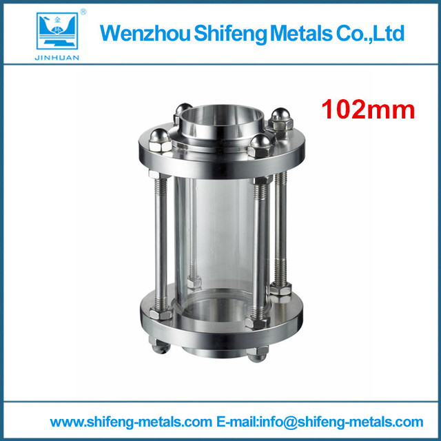 High quality 4 inch 101.6mm Sanitary stainless stell sight glass straight sight glass , Tri-clamp end