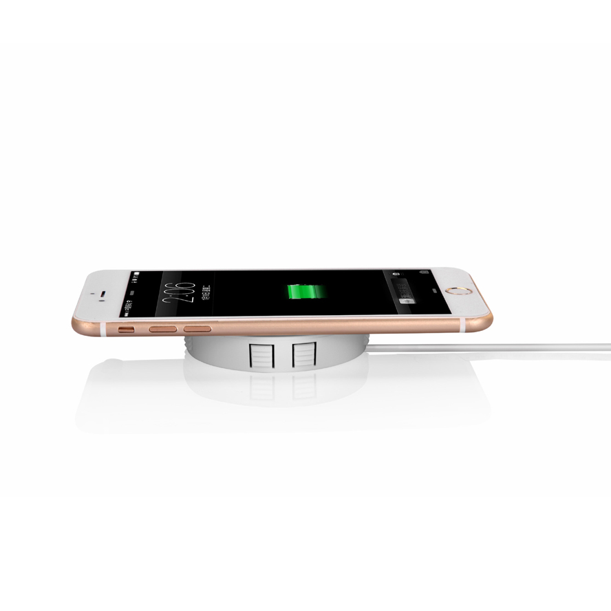 Fast QI Wireless charger invisible desktop furniture table hidden embedded adsorption suspension For IPhone Samsung QI Universal 3